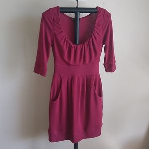 Double Zero maroon dress